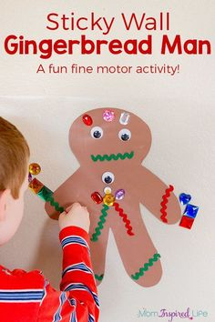 A gingerbread man activity that kids LOVE! Plus, it's a fun Christmas art and craft activity for preschoolers!