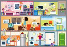 Les règles de sécurité à expliquer aux enfants - http://www.cabaneaidees.com/2015/04/5-choses-a-apprendre-aux-enfants-sur-la-securite-a-la-maison/