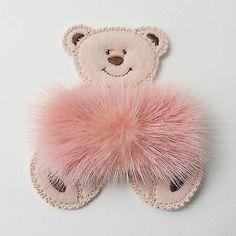 Bear-pink-mink-ribbon-fur-claw-brooch-pin-for-bag-coat-scarf-shawl-kilt-hat
