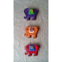 elephant brooch polymerclay