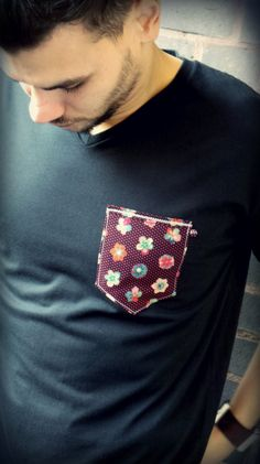 Men's Fashion, black shirt, colour pocket