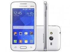 "Smartphone Samsung Galaxy Ace 4 Lite Duos 3G - Dual Chip Câm. 3MP Tela 4"" Proc. Single Core"