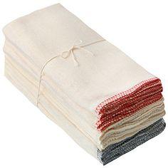 落ちワタふきん 12枚組 縁カラー付 約40×40cm