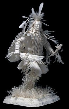 native american indian made out of paper