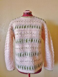 A personal favorite from my Etsy shop https://www.etsy.com/listing/117358949/vintage-knit-pink-mohair-wool-pullover