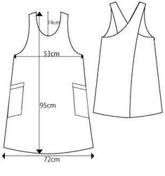 Best Sell Home Cooking Kitchen Apron Custom Colour Cotton Cross Back Apron Buy Apron Pattern Free, Pdf Sewing Patterns, Clothing Patterns, Dress Patterns, Apron Patterns, Sewing Aprons, Sewing Clothes, Dress Sewing, Japanese Apron