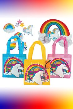 Unicorn Party Favor Supply Pack with Bonus Pin the Tail on the Unicorn Game 73 Pieces
