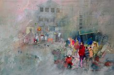 John Lovett Watercolor | In this painting a combination of Watercolor, Gouache, ink and pencil ...