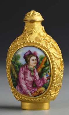 Chinese Copper Enamel Snuff Bottle.