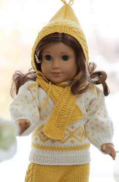 Knitting for 18 Dolls   doll knitting pattern for american girl doll baby born and other 18 ...