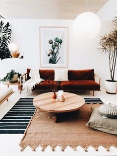 a mix of boho and modern for living room space I Décor Aid