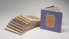 """handmade paper, stitching, 10"""" sq."""