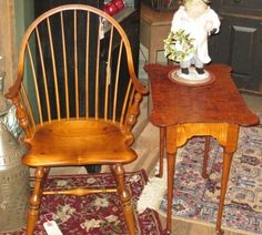 Colonial Furniture, Primitive Furniture, Windsor Chairs, Rocking Chair, End Tables, Exterior, Decorating, Country, Home Decor