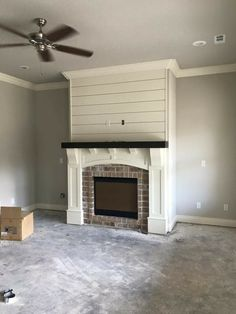Fireplace Fireplace Update, Home Fireplace, Fireplace Remodel, Fireplace Surrounds, Basement Fireplace, Craftsman Fireplace, Shiplap Fireplace, Marble Fireplaces, Fireplace Screens
