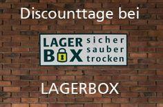 Nur jetzt - Discounttage bei LAGERBOX  - Selfstorage Lagerraum mieten so günstig wie nie zuvor - Möbel einlagern, Aktenlager mieten, Handelswaren fachgerecht und sicher einlagern!!