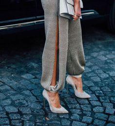 The Darker Horse: Fancy Pants | Slit Leg Pant | Street Style Fashion