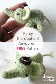FREE Percy the Elephant Amigurumi pattern. Download now at LoveCrochet.Com