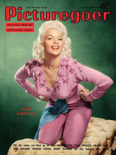 Jayne Mansfield, cover of the magazine Picturegoer, March 16, 1957. An advertising for the release of the movie The Girl Can't Help It.