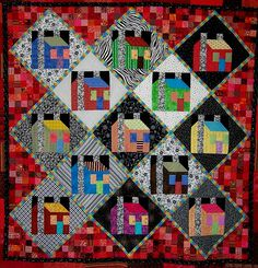 Freddy Moran houses..... I made a quilt using this pattern