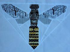 Paper pieced bee block