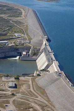 Lake Amistad Dam in Del Rio TX