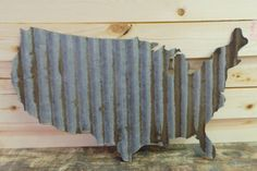 FREE SHIPPING Up-cycled old Corrugated Metal by RockinBTradingCo