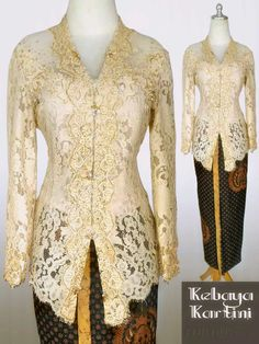 Model Kebaya Modern, Kebaya Modern Dress, Kebaya Dress, Kebaya Brokat, Batik Dress, Lovely Dresses, Evening Gowns, Designer Dresses, Fashion Ideas