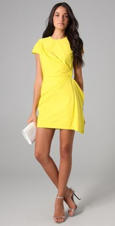 blondes with a tan in yellow = can't go wrong. great summer dress.