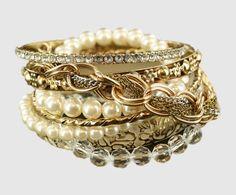 fashionista bracelet set $14.97 charming charlie set of 8 layered bracelets