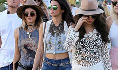 Selena Gomez, Kendall and Kylie Jenner ditch their heels at Coachella #DailyMail