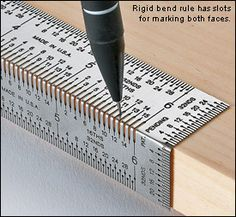 Incra® Rigid Bend Rules. Absolute genius. How have I not seen one of these before now.......or is my ocd getting worse.