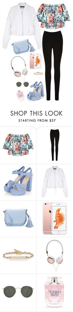 """Untitled #1355"" by misfitsclub on Polyvore featuring Elizabeth and James, Oasis, TIBI, Kate Spade, Hoorsenbuhs, Frends, Ray-Ban and Victoria's Secret"