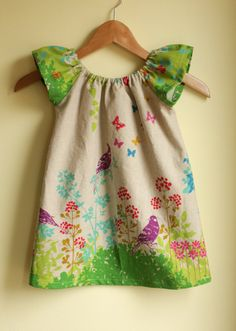 spring birds - peasant dress perfect for summer - green color - last one while w. - Marina Santini - - spring birds - peasant dress perfect for summer - green color - last one while w. Little Dresses, Lovely Dresses, Little Girl Dresses, Girls Dresses, Baby Dresses, Dress Girl, Toddler Dress, Toddler Outfits, Kids Outfits