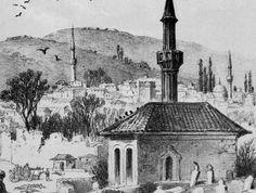 Bugün Bulgaristan sınırları içinde yer alan Plevne şehrinden küçük bir görünüm içeren eserin sahibi bilinmeyen Plevne'nin Osmanlı dönemini gösterir bir gravür.