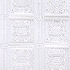 Brewster RD80000 Anaglypta Paintable Scroll In Square Tiles Wallpaper, 21-Inch by 396-Inch, White Brewster http://www.amazon.com/dp/B0047Y04EM/ref=cm_sw_r_pi_dp_aaa0tb0DBZD1X1TK $46.99