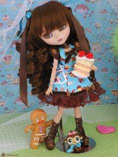 Full-Custom Pullip Cornice - Délice - Chocolate & Mint, by Nekounette #doll #one_of_a_kind #ooak