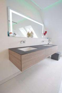Badspiegel auf Maß gefertigt über Waschtisch Alape