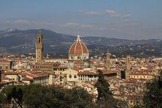 Boboli Gardens, view on Florence