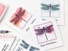 Karten Stampin Up Libelle Aquarell