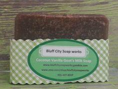 Coconut Vanilla Goats MilkTravel Size Soap by bluffcitysoapworks, $2.00
