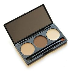 Ubeauty 3 Colour Makeup Eyebrow Powder Palette Kit Eyebrow Brush  Mirror Waterproof Eye Brow Powder Wax PaletteBeauty Cosmetics ** More info could be found at the image url. (Note:Amazon affiliate link) #MakeupPalettes