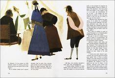 Don Quixote illustration by Roc Riera Rojas, 1968.