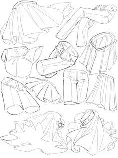 Tips of when to draw the wrinkles of the clothes! Shirt, pants, explains the skirt in Illustration