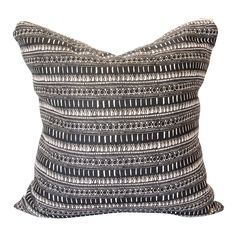 "Linen Pillow with Brass zipper in ""Cecily"" Pattern by Louise Dean www.louisedeandesign.com"