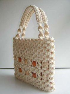 Macrame purse tutorial - because I need a new hobby.