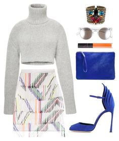"""""""SPLURGE: Preen by Thornton Bregazzi Skirt with Bead Embellished Fringe"""" by goldiloxx ❤ liked on Polyvore"""
