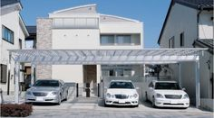M.シェード カーポート 三協立山アルミ1 Car Parking, Entrance, Landscape, Outdoor Decor, Garages, Stairway, Houses, Hearths, Places