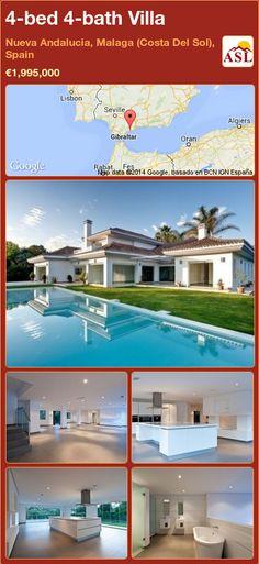 4-bed 4-bath Villa in Nueva Andalucia, Malaga (Costa Del Sol), Spain ►€1,995,000 #PropertyForSaleInSpain