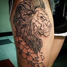 Madison lined out this lion the other day. See more on Instagram @madisonteasetattoos SLC Ink Tattoo 1150 South Main Street Salt Lake City, Utah (801) 596-2061 www.slctattoos.com #slc #801 #tattoo #slcink #bestinutah #utahsbest #bestinsaltlake #saltcity #utahtattoo #utahtattoos #saltlaketattoo #tattooart #artist #saltlakecitytattoo #slctattoo #slctattooartists #slctattoos #saltlakecity #utah #slcinktattoo #tattooartist #lion #liontattoo #hibiscus #hibiscustattoo