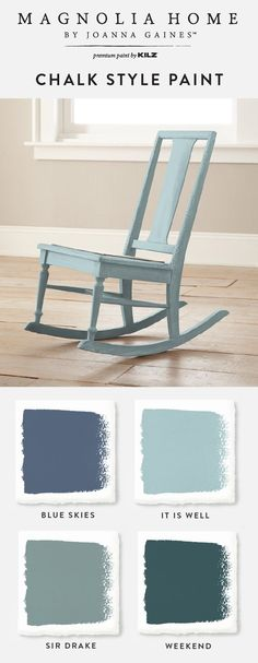 There's nothing better than a pop of blue in the interior design of your home. Explore these blue Chalk Style Paint shades from the Magnolia Home by Joanna Gaines™️ Paint collection. You'll love the timeless hue of paint colors like Blue Skies, It Is Well, Sir Drake, and Weekend.